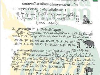 หวยลาว หวยมิติSMS 28/11/59