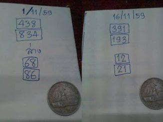 หวย อ.เหรียญเงิน16/11/2559