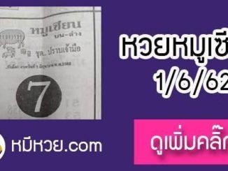 หวยซอง หมูเซียน 1/6/62