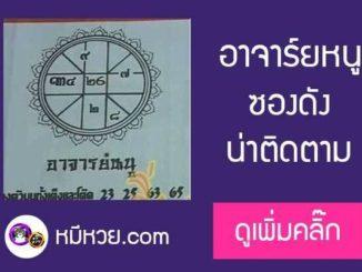เลขเด็ด อาจารย์หนู 16/10/60