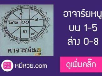 เลขเด็ด อาจารย์หนู 16/7/60