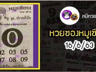หวยซอง หมูเซียน 16/6/63