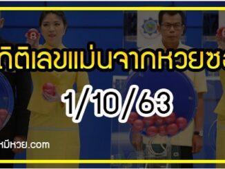 สถิติเลขเด็ดจากหวยซองที่ออกปี 2562-2563