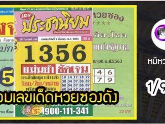 รวมเลขเด็ดหวยซองเด่นๆ แม่นๆ งวด1/9/63