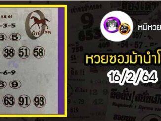หวยซอง ม้านำโชค 16/2/64